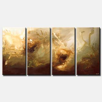 multi panel canvas art soft colors