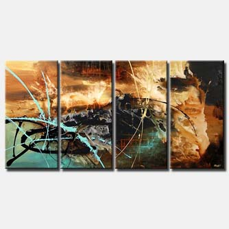 multi panel modern painting splash art