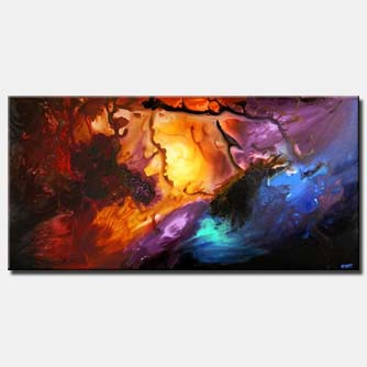 large colorful abstract art home decor