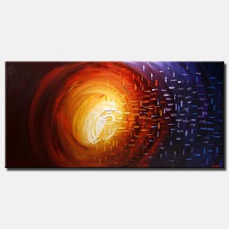 abstract galaxy painting wall decor space