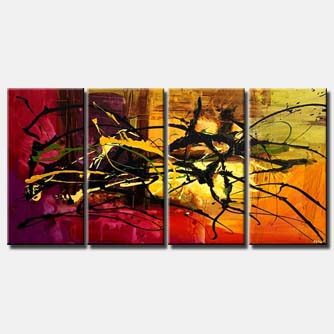 colorful splash painting multi panel