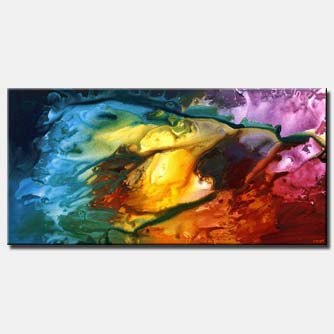 large colorful abstract painting home decor