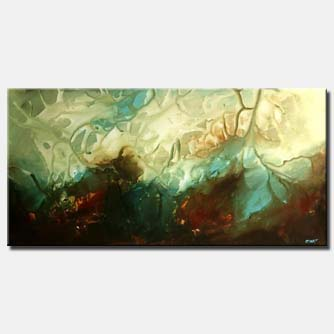 large modern painting beach water abstract art