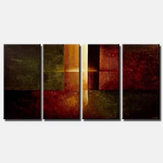 modern abstract art multi panel eternal light