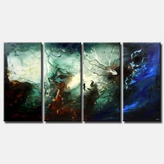 the underworld seascape painting blue