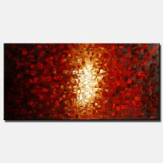 large red abstract painting shine floral