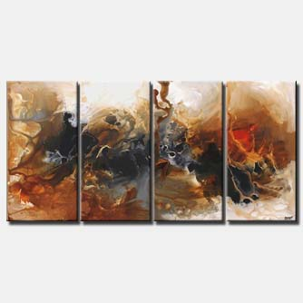 abstract painting multi panel milky way