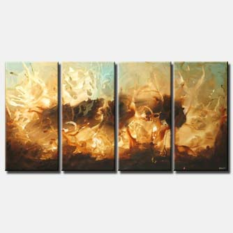 abstract beach home decor multi panel