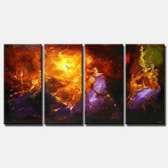 sectional colorful painting multi panel colorful