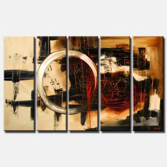 large sectional abstract painting multi panel