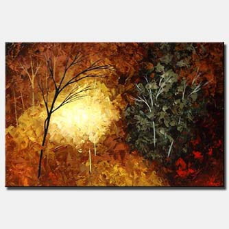 summer warmth forest painting trees