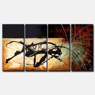 abstract painting multi panel spash