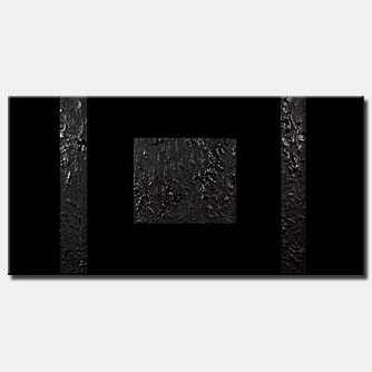 black geometrical painting dark minimal