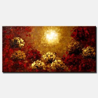 sunrise painting home decor floral sun