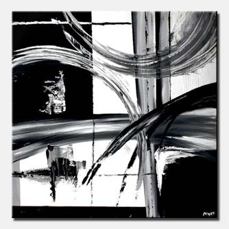 black and white abstract painting decor