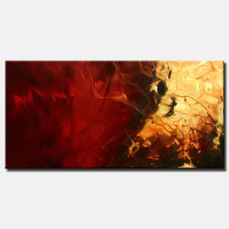 red original hand made art soft