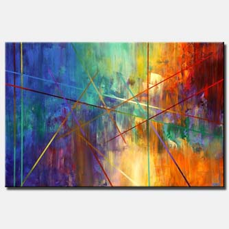 colorful geometrical painting home decor