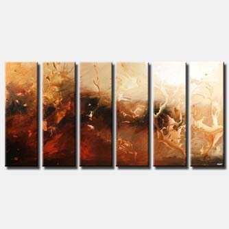 large modern painting multi panel vertical