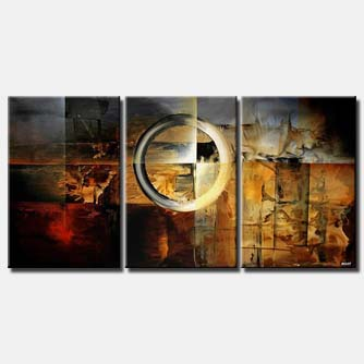 large modern geometrical painting circle square