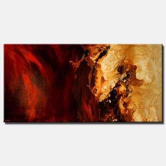 red modern painting soft stallion decor