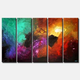 large colorful abstract contemporary painting