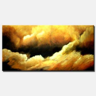 abstract cloud painting