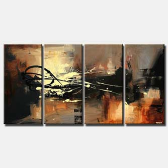 large abstract contemporary painting multi panel