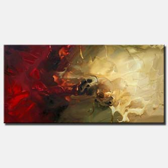 abstract painting horizontal home decor