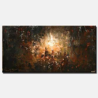 the lost city abstract painting dark