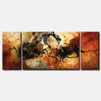 rusty abstract painting triptych splash
