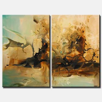 diptych modern painting home decor