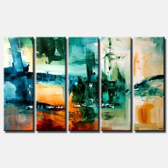 large abstract contemporary painting