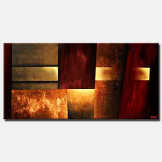 large abstract painting geometric art decor