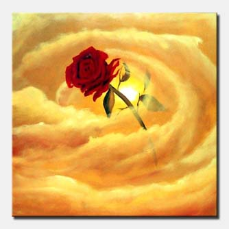 love is in the air red rose