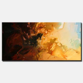 vertical abstract art soft sun decor