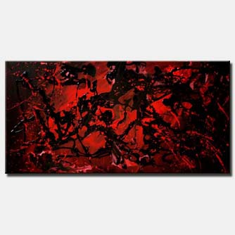 canvas art red black large home decor