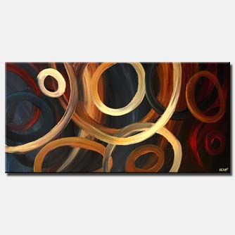 large geometrical painting circles color