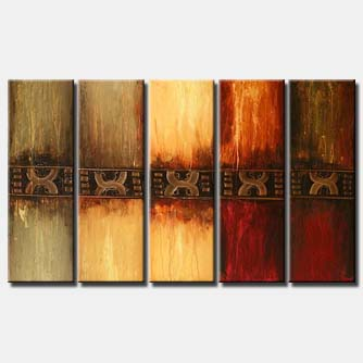 large abstract painting multi panel