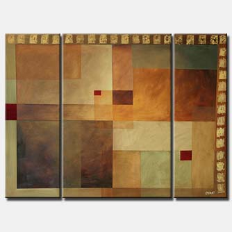 geometrical abstract painting squares decor