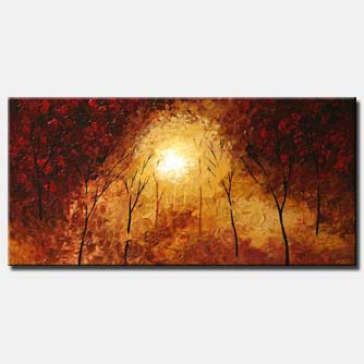 abstract landscape painting shine