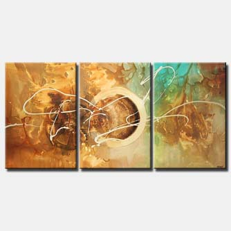 triptych wall decor painting large circle