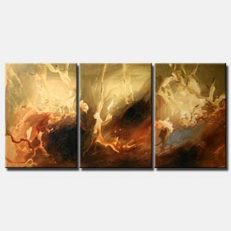 abstract triptych for wall decor soft