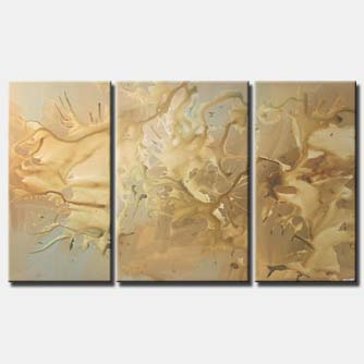 triptych home decor painting monochromatic