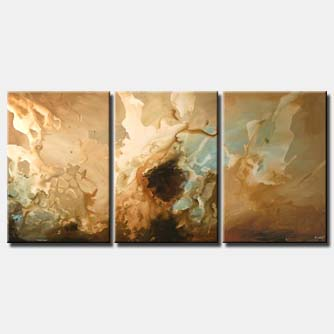 colorful painting abtract art soft triptych