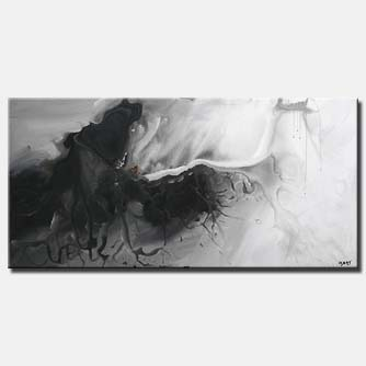decorative black and white abstract painting