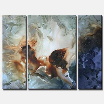 vertical modern wall decor three panels triptych soft