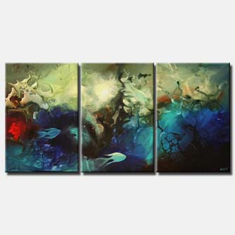 fish underwater seascape painting colorful