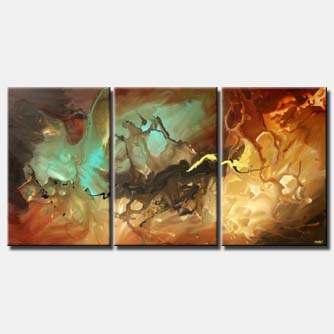 triptych home decor canvas colorful wall