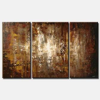 silver city modern art home decor triptych