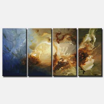 large abstract art multi panel vertical home decor
